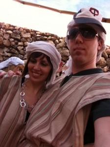My Wife & I kickin' it Holy Land style.